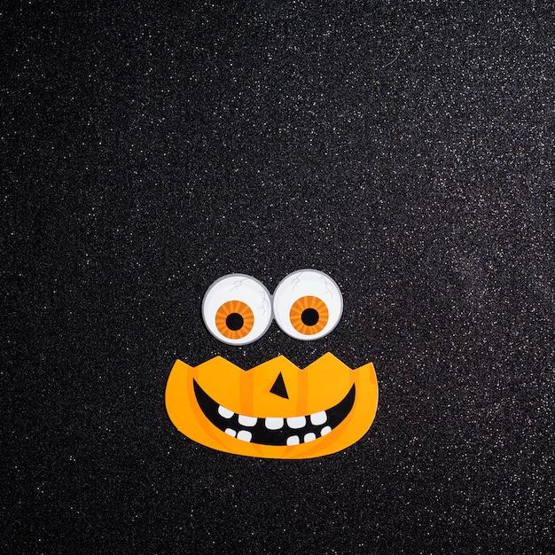 Kürbis mit augen für halloween nacht