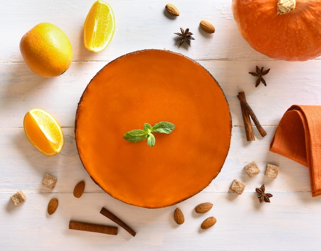 Kürbis-orangen-torte