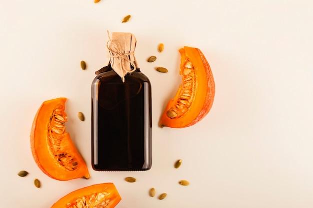 Kürbiskernöl als bestandteil einer gesunden ernährung mit pflanzlichen fetten