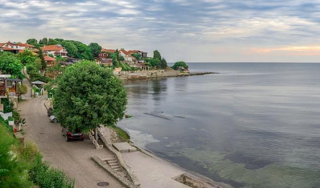 Küste in der alten stadt von nessebar, bulgarien