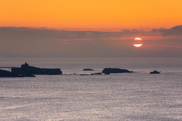 Küste von biarritz im baskenland.