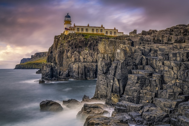 Küstenlandschaft mit einem leuchtturm