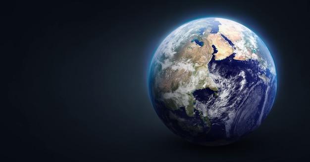Kugel des planeten erde auf dunklem, isoliertem hintergrund elemente dieses von der nasa bereitgestellten bildes