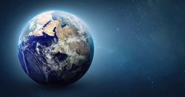 Kugel des planeten erde im weltraumelement des sonnensystemselemente dieses von der nasa bereitgestellten bildes
