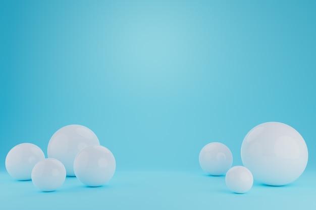 Kugeln abstrakte darstellung. realistischer 3d-hintergrund mit organischen kugeln.