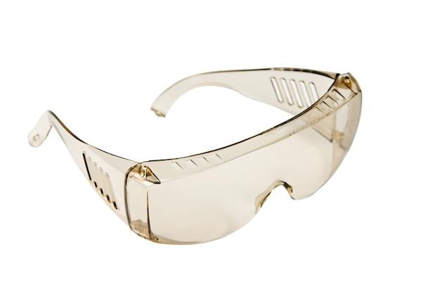 Kugelsichere brille. isoliert auf weiß