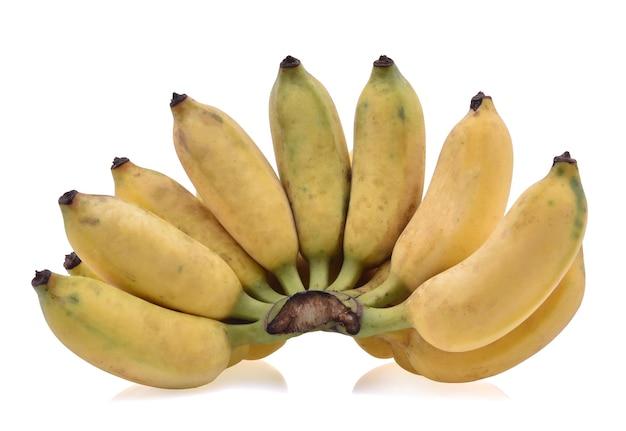 Kultivierte banane lokalisiert auf weißem hintergrund