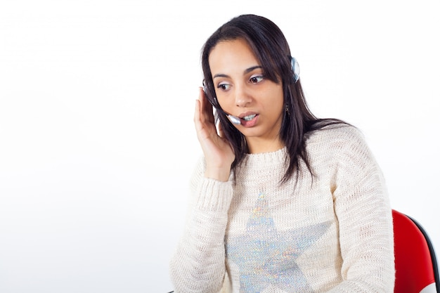 Kundenbetreuerin mit headset