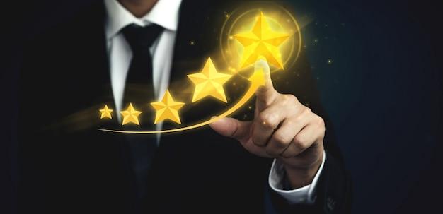 Kundenbewertungskonzept für feedback-umfrage zur zufriedenheit.