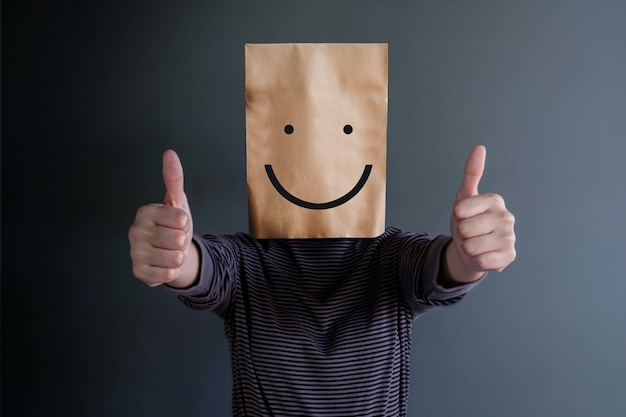 Kundenerfahrung oder menschliches emotionales konzept.