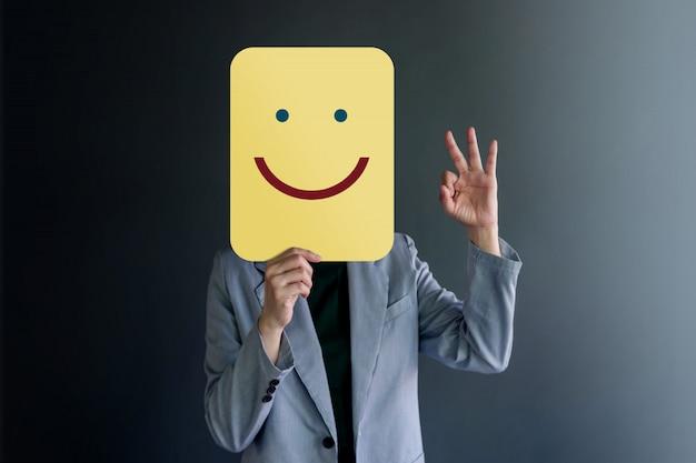 Kundenerfahrung oder menschliches emotionales konzept