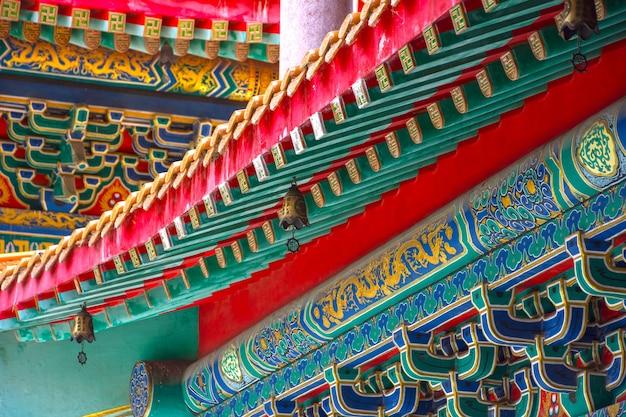 Kunst des gebäudes im chinesischen tempel