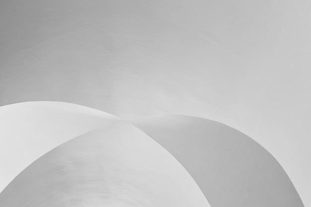 Kunst und design der architekturdecke - modernes kurvenmuster