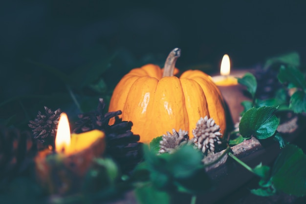Kunstbild von halloween-konzept, dunkle weinlese, kopienraum für gebrauch