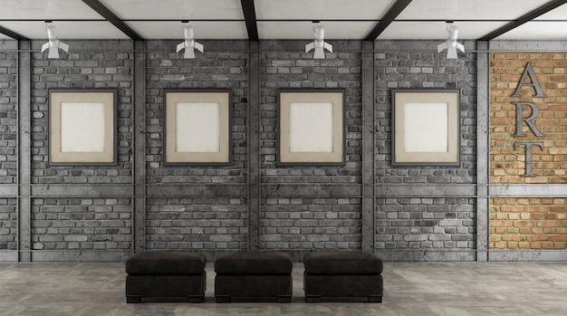 Kunstgalerie in einem loft