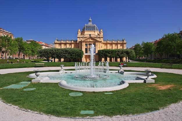 Kunstpavillon, umjetnicki paviljon in zagreb, kroatien, balkan