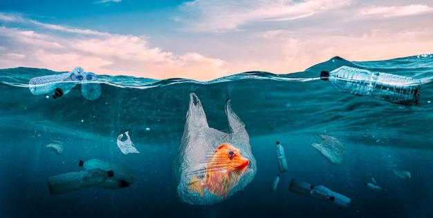 Kunststoffe in den meeren. globales problem