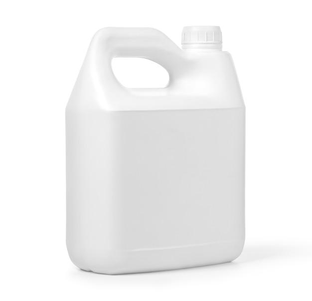 Kunststoffkanister auf weißem hintergrund mit beschneidungspfad