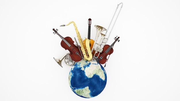 Kunstwerk musikinstrument für musikfestival
