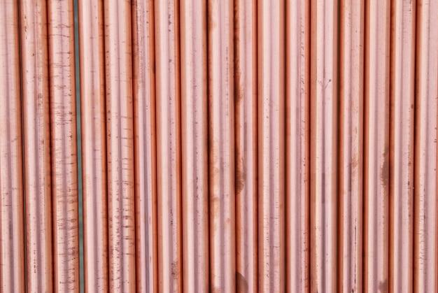 Kupferrohre können für abstrakten industriellen hintergrund verwendet werden