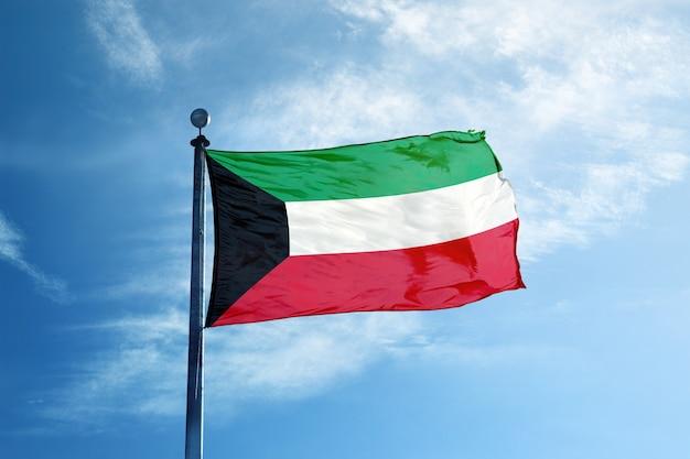 Kuwait-flagge am mast