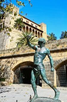 La almudaina palast in palma de mallorca, spanien