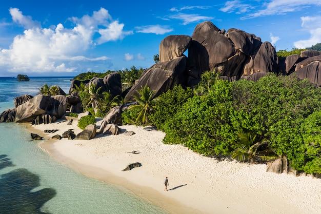 La digue, strand der seychellen
