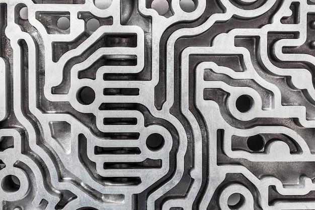 Labirinth für die hydraulische steuerung des automatikgetriebes