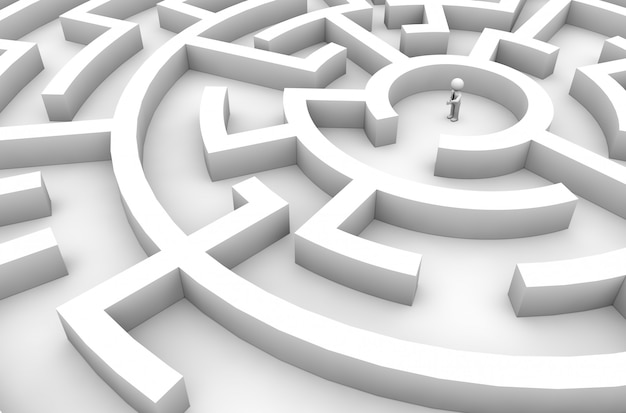 Labyrinth-geschäftsmann