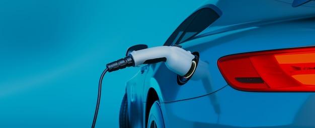Ladegerät für elektroautos. 3d-rendering und illustration.
