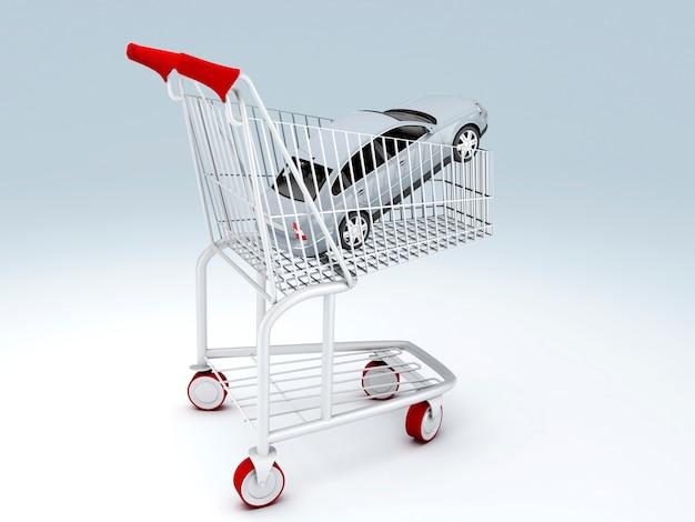 Ladengeschäft für autos. verkaufskonzept