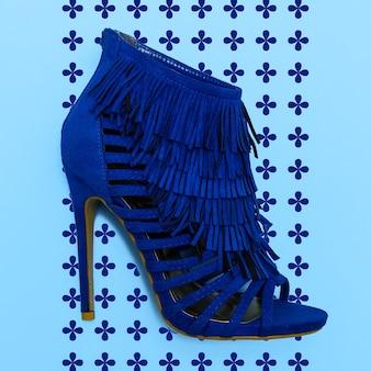 Lady high heel schuhe sexy style. flat lay minimal store