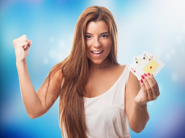 Lächeln glück spieler wette spielen