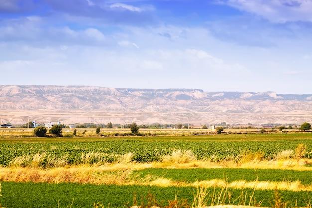 Ländliche landschaft in aragonien