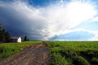 Ländlichen quebec landschaft