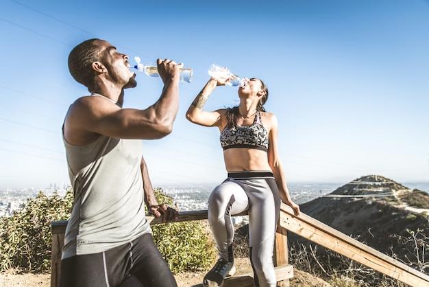 Läufer trainieren außenseiter