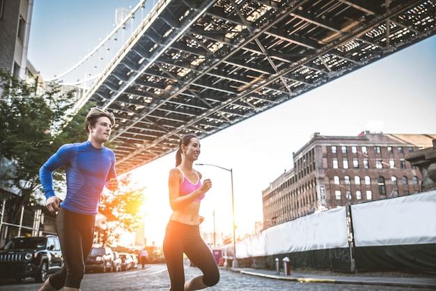 Läufer trainieren im freien