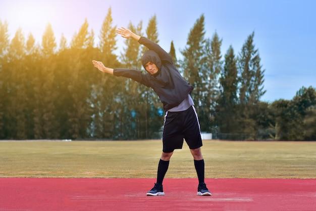 Läufermann-übungswurm herauf körper bevor dem laufen oder dem rütteln