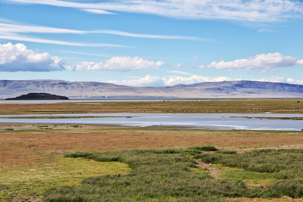 Lago argentino in el calafate, patagonien, argentinien