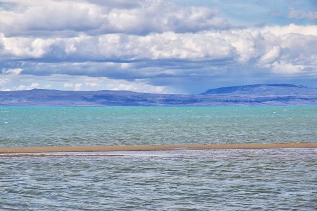 Lago argentino see nahe el calafate in patagonien, argentinien