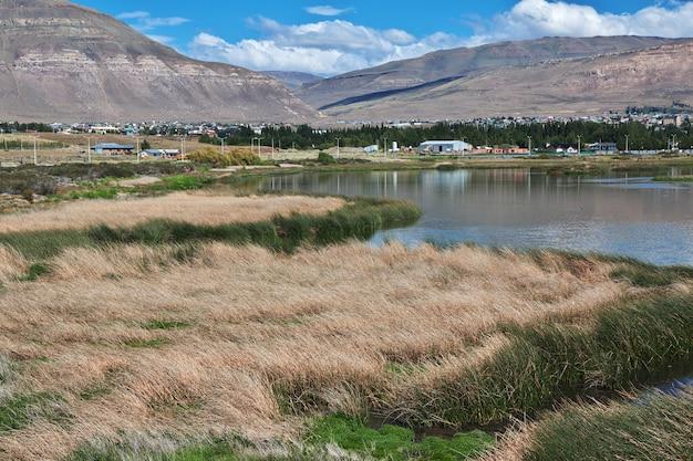 Laguna nimez reserva in el calafate, patagonien, argentinien