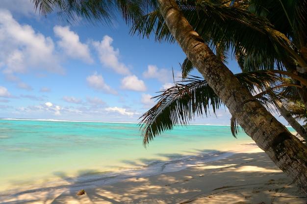 Lagune von aitutaki und rarotonga, ferne atolle pazifik, cookinseln