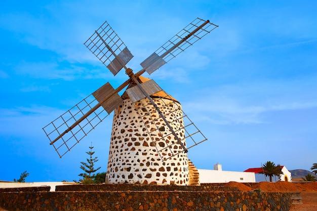 Lajares-windmühle fuerteventura in kanarischen inseln