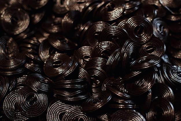 Lakritz mit schwarzem gelee-geschmack