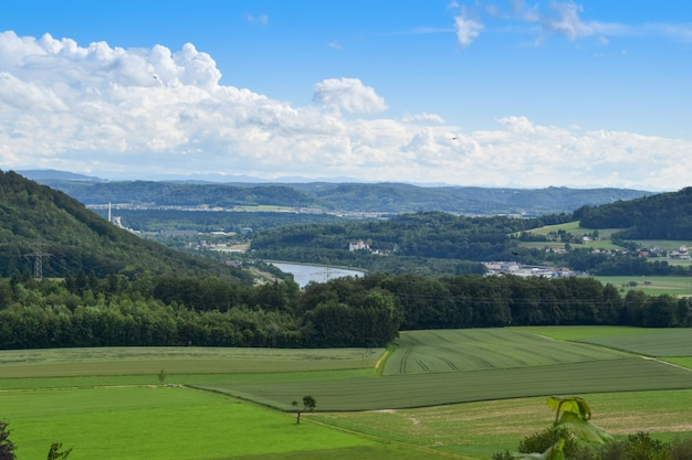 Landschaft aus habsburg, schweiz