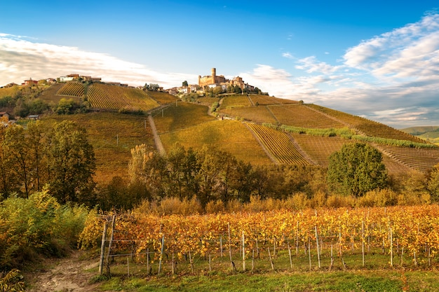 Landschaft der barolo-weinregion