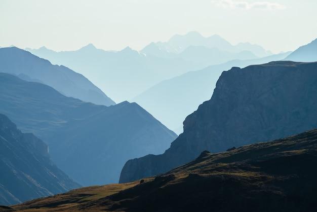Landschaft der bergkette