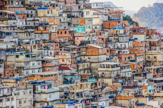 Landschaft der cantagalo-favela