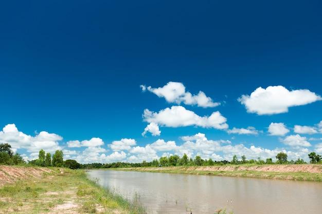 Landschaft der entwässerungsverwaltung
