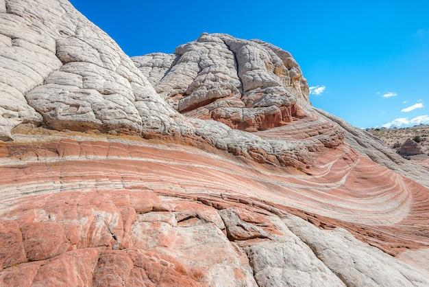 Landschaft der felsenwüste, weiße tasche in arizona